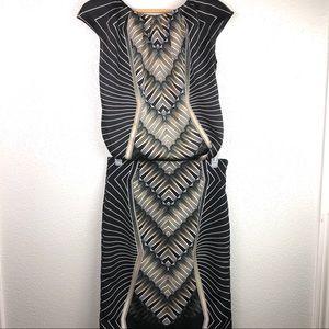 2 pc Geometric Skirt Set